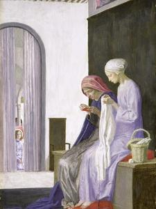 Mary in the House of Elizabeth, 1917 by Robert Anning Bell