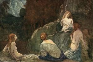 Where the Rude Axe, with Heaved Stroke, Was Never Heard the Nymphs to Daunt by Robert Anning Bell
