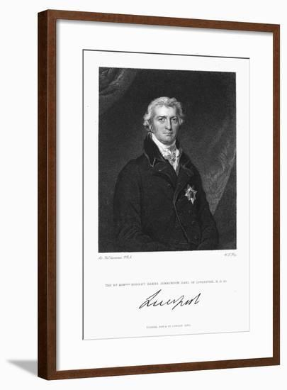 Robert Banks Jenkinson, Earl of Liverpool, British Statesman, 1830-William Thomas Fry-Framed Giclee Print