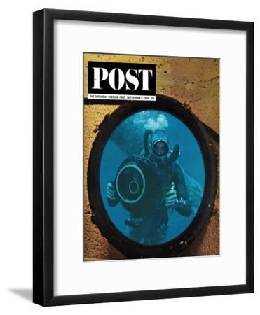 """""""Sealab Diver,"""" Saturday Evening Post Cover, September 5, 1964"""