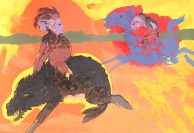 Untitled (Green Eyed Warthog)