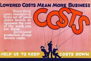Help Us To Keep Costs Down by Robert Beebe