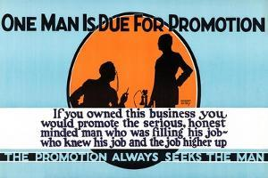 The Promotion Always Seeks The Man by Robert Beebe