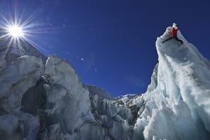Ice Climbing in the Bernese Oberland, Swiss Alps by Robert Boesch