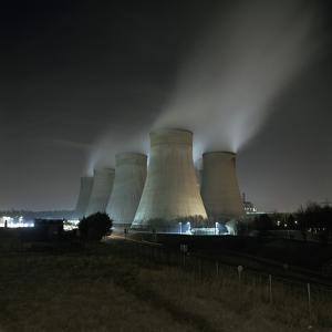 Coal Fired Power Station at Night by Robert Brook
