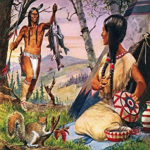 Hiawatha and Minnehaha by Robert Brook