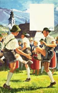The Schuhplattler Dance from Austria by Robert Brook
