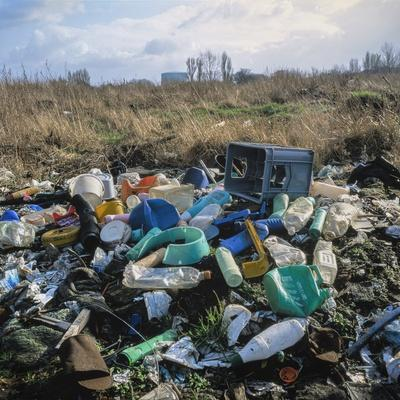 Wasteland Strewn with Plastic