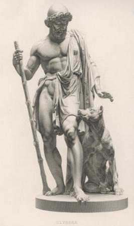 Odysseus is Recognised by His Dog Argos by Robert Brown