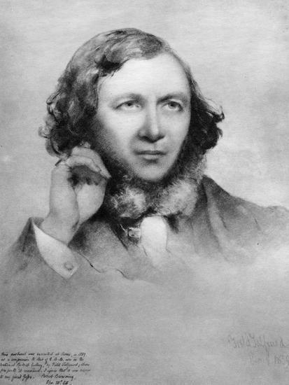 Robert Browning, British Poet, 1859-Field Talfourd-Giclee Print