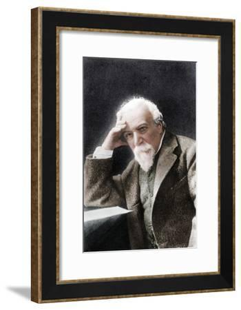 Robert Browning, English poet and playwright, late 19th century-W H Grove-Framed Giclee Print