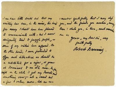 Letter from Robert Browning to William G Kingsland, 27th November 1868