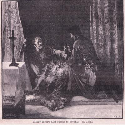 Robert Bruce's Last Orders to Douglas-Mary L. Gow-Giclee Print