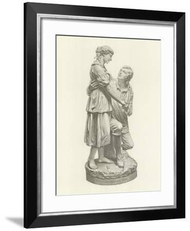 Robert Burns and Highland Mary--Framed Giclee Print