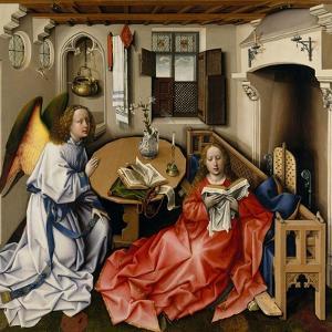 The Annunciation (Mérode Altarpiec), Ca 1428-1432 by Robert Campin