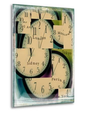 Clocks Montage with City Names