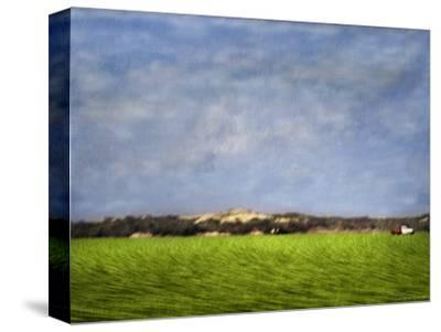 Impressionistic Harvest Field and Truck
