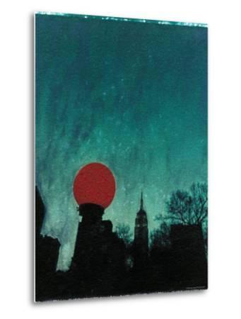 Scarlet Streetlight with Chrysler Building
