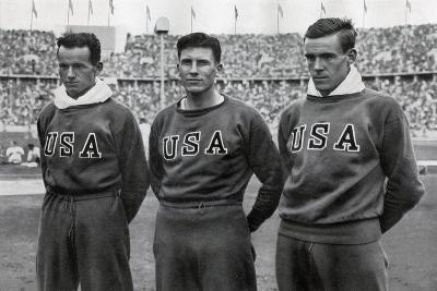 Robert Clark, Glenn Morris, John Parker, American Decathletes, Berlin Olympics, 1936--Giclee Print