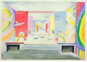 Design for the Interior of the Aviation Pavillion at the World Exhibition in Paris, 1937 by Robert Delaunay