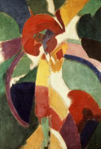 Femme À L'Ombrelle Ou La Parisienne (Woman with Umbrella or the Parisian Lady), 1913 by Robert Delaunay