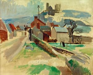 Street in Laon Study, 1912 by Robert Delaunay