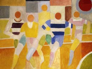 The Runners by Robert Delaunay