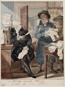 A Bailiff and And Attorney - a Match for the Devil by Robert Dighton