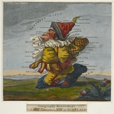 Geography Bewitched!, A Droll Caricature Map of Scotland, ca. 1795