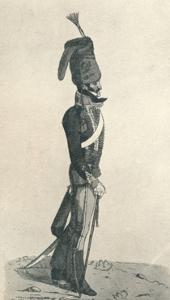 'George Augustus Quentin ('An officer of the 10th, or Prince of Wales's Hussars, taken from life')' by Robert Dighton