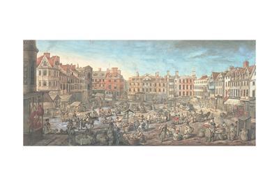Norwich Market Place, 1799