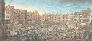 Norwich Market Place, 1799 by Robert Dighton
