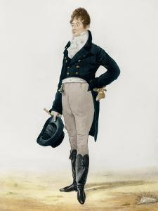 Portrait of George Beau Brummell by Robert Dighton