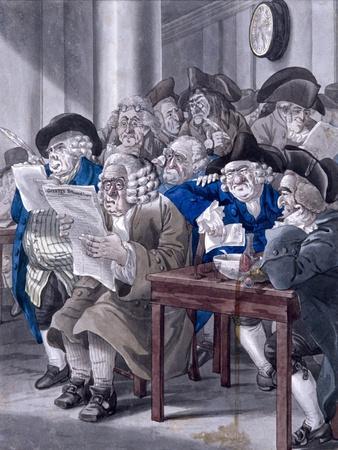 Stock-Jobbers Extraordinary, Stock Exchange, London, C1795