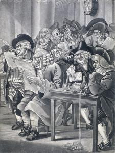 Stockjobbers at the Stock Exchange, Bartholomew Lane, London, C1795 by Robert Dighton