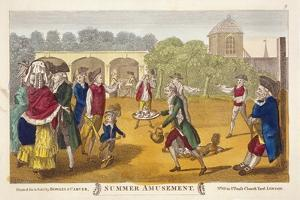 Summer Amusement, Possibly at White Conduit House, Islington, London, C1784 by Robert Dighton