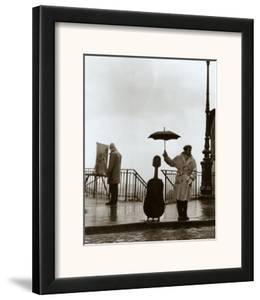 Musician in the Rain by Robert Doisneau