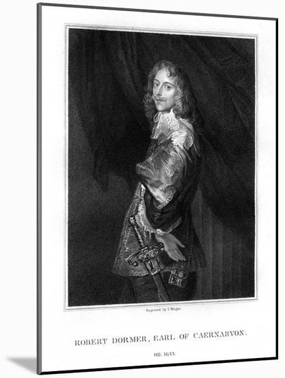 Robert Dormer, 1st Earl of Carnarvon, Royalist Soldier-T Wright-Mounted Premium Giclee Print