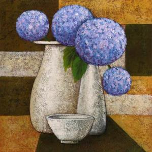 Hydrangeas with Vase IV by Robert Downs