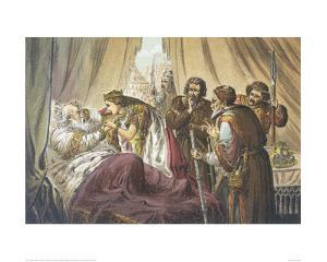 Cordelia at King Lear's Bed by Robert Dudley
