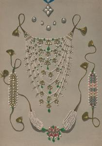 'Cross Pendant Brooches & Earrings, Suite of Indian Ornaments', 1863 by Robert Dudley