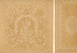 'Damask Linen by Mr C. Faber, Stuttgart and Messrs. Burre Bros. Dumferline', 1863 by Robert Dudley
