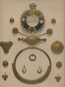 'Gold Ornaments and Brooch', 1863 by Robert Dudley