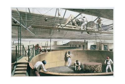 Manufacturing the transatlantic telegraph cable, c1865 (1866)