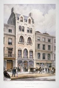 Shop Fronts on New Bond Street, Westminster, London, C1860 by Robert Dudley