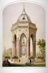 The Drinking Fountain in Victoria Park, Hackney, London, C1861 by Robert Dudley