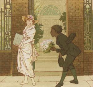 The Queen of the May is Presented with a Bouquet of Flowers by a Chimney Sweep by Robert Dudley