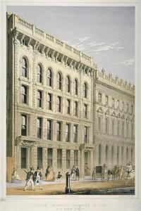 View of the Ocean Insurance Company's Offices, Old Broad Street, City of London, 1864 by Robert Dudley