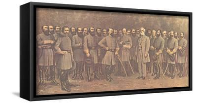 Robert E. Lee and His Generals-Mathews-Framed Canvas Print