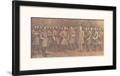 Robert E. Lee and His Generals-Mathews-Framed Art Print
